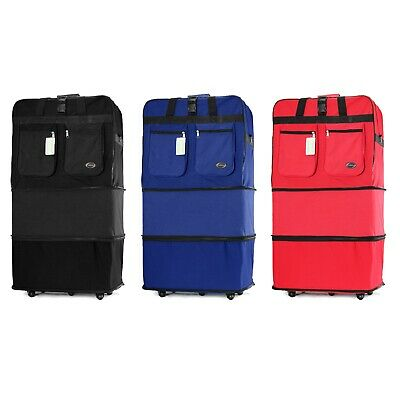 30 36 Rolling Wheeled Duffle Duffel Bag Spinner Suitcase Luggage Expandable