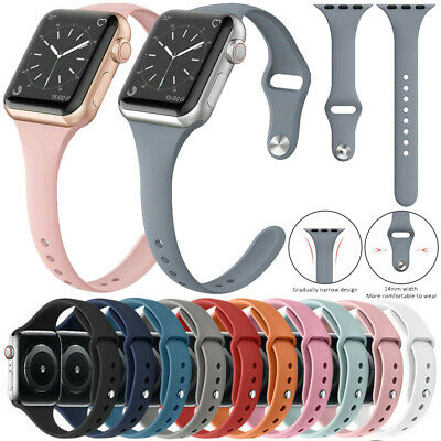 For Apple Watch Series 5432 Replacement Silicone Soft Sport iWatch Band Strap