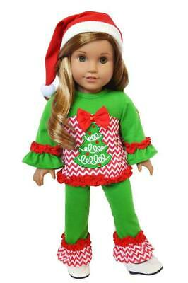 Christmas Tree Outfit for American Girl Dolls 18 Inch Doll Clothes