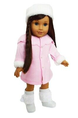 Pink Coat - Hat For American Girl Dolls 18 Inch Doll Clothes