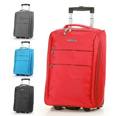 Foldable Rolling 20 Bag Carry on Luggage Travel Lightweight Black Red Blue