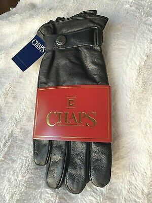 Chaps Mens 100 Leather Driving Gloves Black XL
