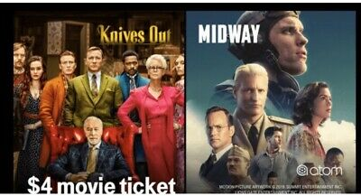 BOGO 2 4 Atom Movie Midway or Knives Out - IMAX DOLBY RPX - thru 1118