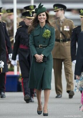 Beautiful Green Persephone Wool Trench Coat From Hobbs- Kate Middleton- Size 12