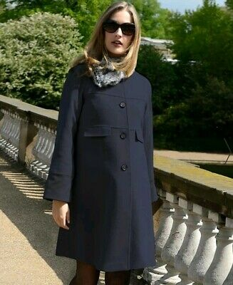 Seraphine Maternity Luxe Navy Coat Size 8 Like Kate Middleton