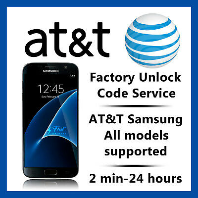 AT-T UNLOCK CODE SERVICE FOR SAMSUNG GALAXY S10 S9 S8 S7 S6 NOTE 10 10- 9 8 A10