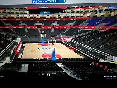 2 Tickets in Section 217 Row 3 NO Pelicane  LA Clippers on Sunday Nov 24 6pm