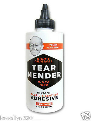 TEAR MENDER Fabric - Leather Adhesive 6oz- TG-6   NEW