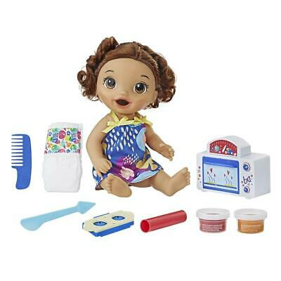 Baby Alive Snackin� Treats Baby Brown Curly Hair