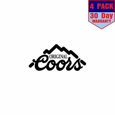 Coors Beer Vinyl 1 4 Stickers 4x4 Inches Sticker Decal