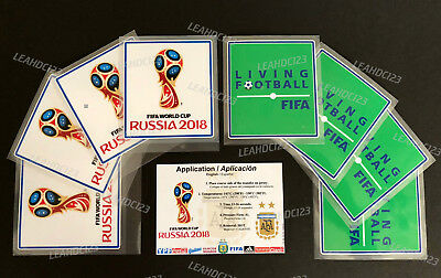 2018 WORLD CUP RUSSIA  and  LIVING FOOTBALL Arm  Sleeve  Patch  Badge