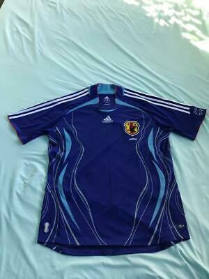 Pre-Owned MENS ADIDAS JAPAN NATIONAL WORLD CUP 2006 SOCCER JERSEY SIZE L