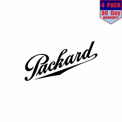 Retro Vintage Packard Car Co 4 Stickers 4x4 Inch Sticker Decal