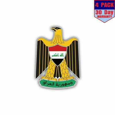 Iraq Coat Of Arms 4 Stickers 4x4 Inch Sticker Decal