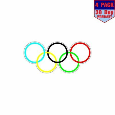Olympic Rings 4 Stickers 4x4 Inch Sticker Decal