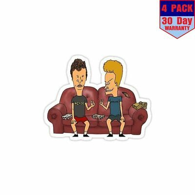 Beavis And Butthead 4 Stickers 4X4 Inch Sticker Decal