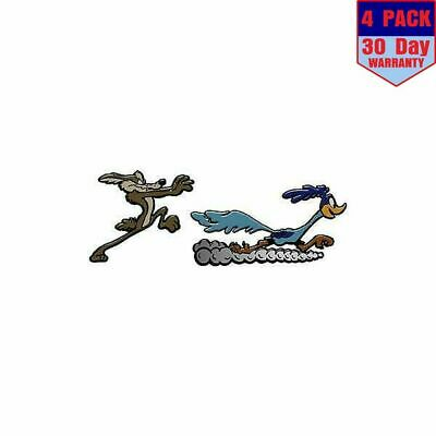 Road Runner And Coyote 4 Stickers 4X4 Inch Sticker Decal