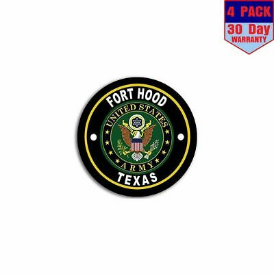 Fort Hood Army Base 4 Stickers 4x4 Inch Sticker Decal