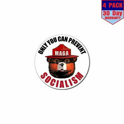 Only You Can Prevent Socialism 4 Stickers 4x4 Inch Sticker Decal