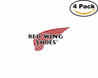 red wing shoes 4 Stickers 4x4 Inches Sticker Decal