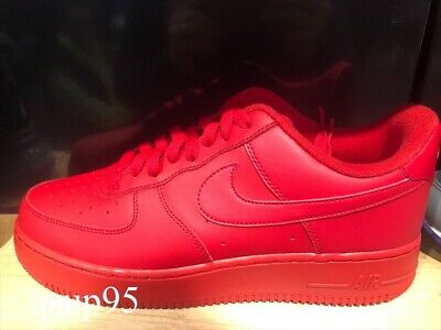 Nike AIR FORCE 1 07 Low Triple Red CW6999 600 Size 7-13 New