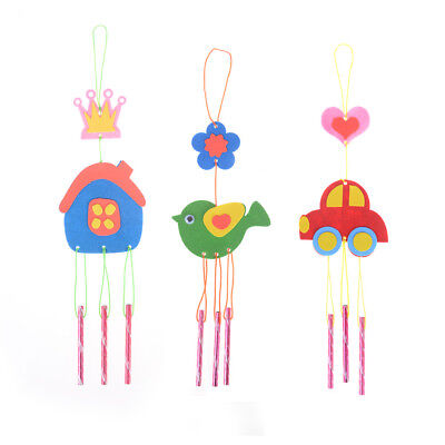 Kids DIY Puzzle Toys for Kids Wind Chime Manual Crafts Hanging Kits Toys RS K7T