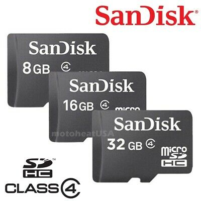 SanDisk Micro SD Card 8GB 16GB 32GB Memory Class 4 for Tablets Drones DashCam PC