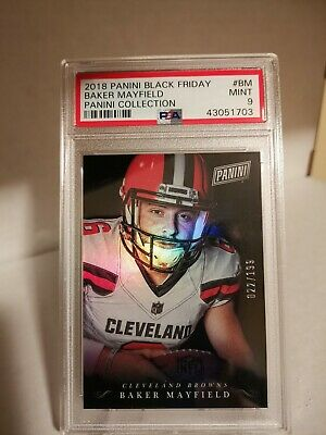 2018 Panini Black Friday Collection 22199 BM Rookies Baker Mayfield PSA 9