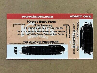 FOUR 4 Knott's Berry Farm Admission Tickets - Valid ONE DAY ONLY Through 63020