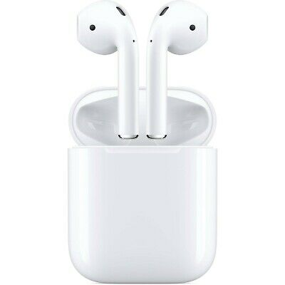 Apple Airpods White 2nd Generation MV7N2AMA w Wired Charging Case
