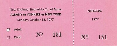 2 Vintage Tickets - New England Steamship Co. of Mass. -  October 15 & 16 1977