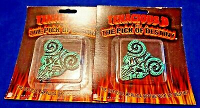 TENACIOUS D IN THE PICK OF DESTINY OFFICIAL REPLICA PICK CLAYTON 2006 LOT OF 2
