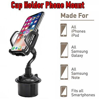 Universal New Adjustable Car Cup Holder Gooseneck Cradle Mount for Cell Phone 1