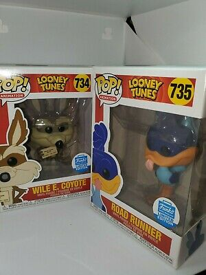 Funko Pop Wile E- Coyote Road Runner Looney Tunes Animation - Shop Exclusive