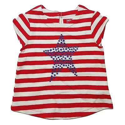 Baby Gap Fourth  of July Americana Striped Knit Tee Girls 2T NWOT