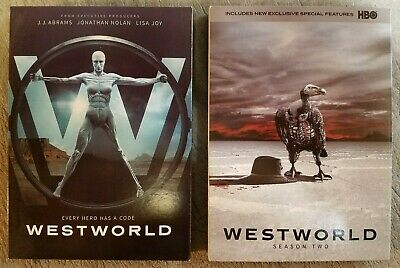 WESTWORLD Season One 1 - TWO 2 - DVD - Perfect Condition - HBO