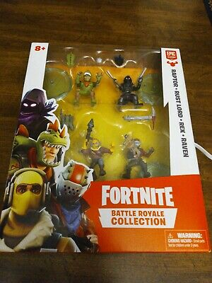 Fortnite Battle Royale Collection 4 Figure Raptor Rust Lord Rex Raven NEW