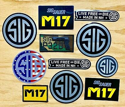 Sig Sauer Round Decal Sticker Red White and Blue American Flag M17 P320 11pieces