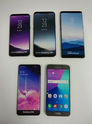 Lot of 5 - Dummy Phones - Samsung Galaxy S8 S8- Note 8 S10 and J7v 2017