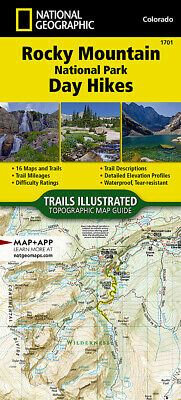 National Geographic TI Rocky Mountain National Park Day Hikes Topo Map Guide