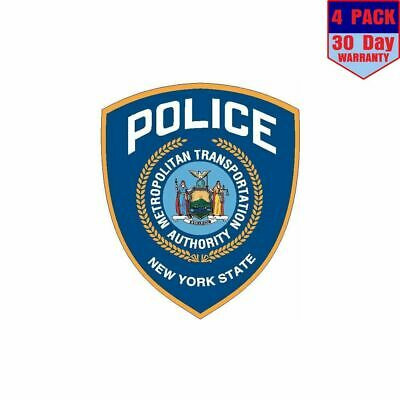 New York MTA Police 4 pack 4x4 Inch Sticker Decal
