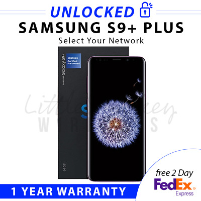 SAMSUNG GALAXY S8-PLUS 64GB SM-G955U1 BLACK FACTORY UNLOCKED SELECT YOUR NETWORK