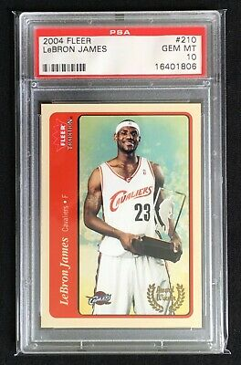 2004-05 Fleer Lebron James 210 PSA 10 Basketball Card