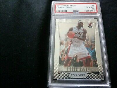 2012-13 Panini Prizm LeBron James PSA 10 base- Card 1