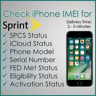 SPRINT USA IMEI iPHONE PRO CHECK SERVICE SPCS FED Met ACTIVATION STATUS