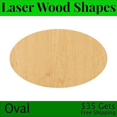 Oval Laser Cut Out Wood Shape Craft Supply - Woodcraft Cutout