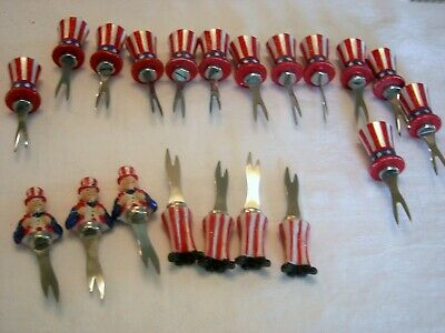 FOURTH OF JULY  Red White and Blue Food Picks Set of 20