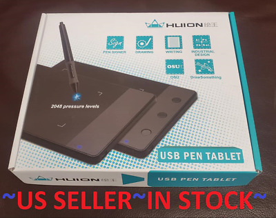 HUION H420 USB TABLET W PEN PAD GRAPHICS ART BOARD ANIMATION DRAWING BOARD KIT