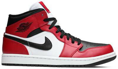 Nike Air Jordan 1 Retro Mid Chicago Bred Mens GS Sz Black Red White 5547245-069