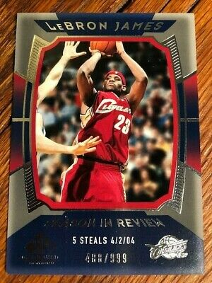 2003-04 LeBron James UD SP Game Used Edition Season In Review 147- 488999
